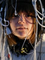 Self-Portrait with Wires by PeopleEveryday