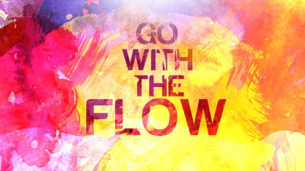 Go With The Flow Wallpaper by ScriptedDestiny