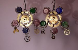 Steampunk earrings 16 by TheCraftsman