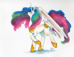 Princess Celestia by PlaidRed