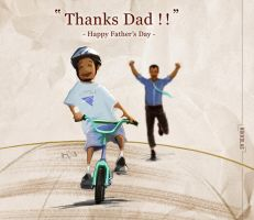 Thanks Dad! Happy Fathers Day by Nikkolas Smith by Nikkolas-Smith