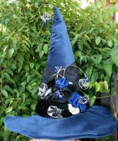 Spiders and Roses Witch Hat by mermaidencreations
