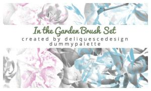 In the Garden Brushes by deliquescedesign