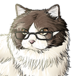 Commission: A Cat With Glasses by naoyi