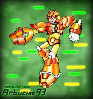 MMX3 - Gold Hyper Armor by Shinobi-Gambu