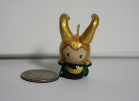 Tiny Loki Charm by ScribblesLover