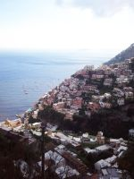 Pile of Buildings - Positano by elvenmaedchen