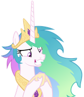 Still crazy Celestia by Magister39