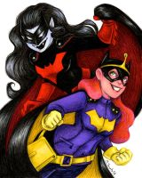 Batwoman and Batgirl by msciuto