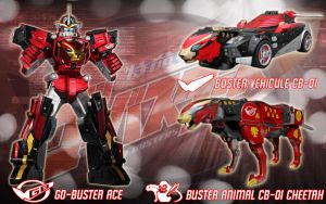 CB-01 Go-Buster Ace by blakehunter