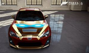 Iron man car designed in forza 5 by Samaelt666