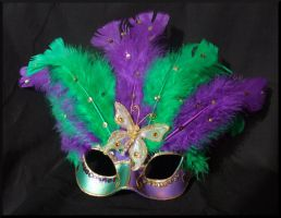 Mardi Gras Masquerade Mask by Jedi-With-Wings