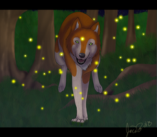 racing fireflies by Whitelupine