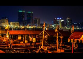 Ferries And City Lights by MARX77