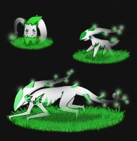 fakemon grass and ghost typs by Robbu