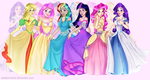 My Little Pony Princesses by AngieMP