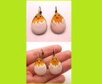 READY TO SHIP: Handmade chick earrings by MiniSweetx