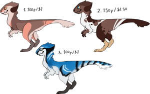 Raptor Trio Flatsale CLOSED by catpeets