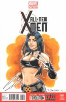 X 23 Marker Sketch Cover 2 by BillMcKay