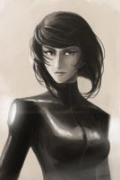 Motoko Kusanagi ~ Test 2 by microcastle