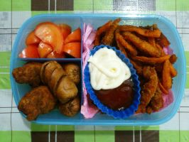 fried frenzy bento by plainordinary1
