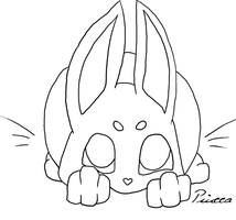 Bunny Line Arts Free to Use by Piucca