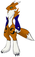 me as a Renamon by luvini
