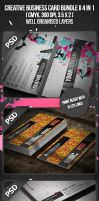 Creative Business Card Bundle II 4 in 1 by VadimSoloviev