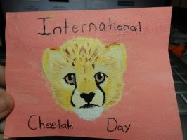 International Cheetah Day Speed-Paint by QuantumMirage
