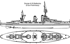 Battleship Design A-50 by Tzoli