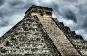 Cichen Itza - Mayan Temple by Ark-Angel114