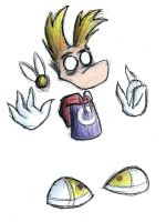 Rayman in Don't Starve style by Rayania