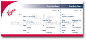 MV Virginia Boarding Pass by TreLeCoco