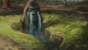 The Crying Idol by Heyriel