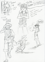 OP - Luffy doodles by FerioWind