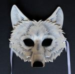 White Wolf Mask by OakMyth