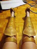Nakagami leg armors by SCARLET-COSPLAY