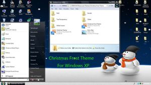 Christmas Frost Theme for XP by JoshuaLangit123