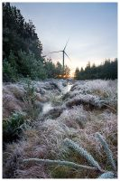 Winter wind farm by FlippinPhil