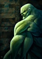 The Incredible Bald Hulk by mrobinson-art
