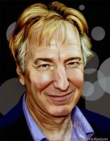 Alan Rickman Portrait by Fooblued