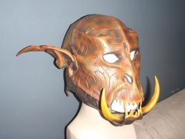 Orc Mask WIP 6 by Red-Dragon-Lord