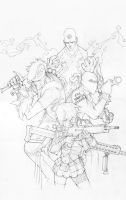 Brotherhood cover pencils by lazeedog
