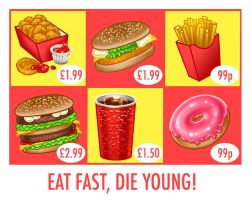 Eat fast die young by Hungrysparrow