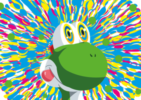 Yoshi on Drugs!! by Machateo