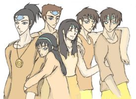 Republic City High School - Beifong Clan Sketch by AngelicMayumi