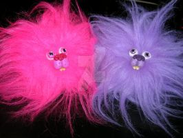 Pink and Violet Pygmy Puffs HP by iamwinterborn