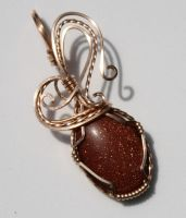 Goldstone Pendant by skezzcrom