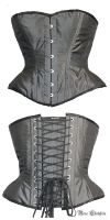 Steel-grey corset by Stahlrose