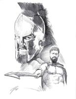Leonidas sketch by GabeFarber